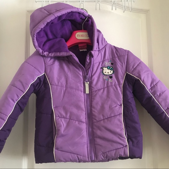 a6e3bed93 Adorable purple hello kitty girls winter coat. M_5b9143a24cdc303147b3a0ce